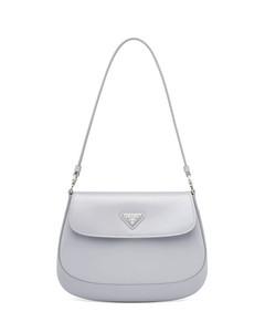 Cleo brushed leather shoulder bag with flap