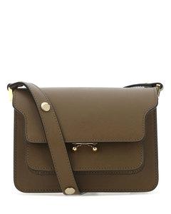 Brown leather mini Trunk shoulder bag