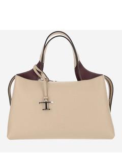 Embroidered fabric shoulder bag