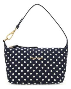 Printed fabric mini Miu Spirit handbag