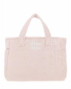 Pastel pink terry handbag