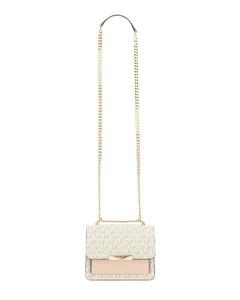 Antiqued pink leather Moonbag handbag