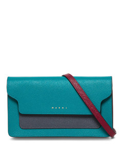 Multicolor Leather Crossbody Bag with Logo