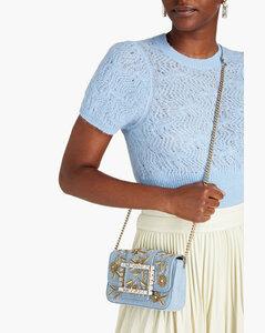 Multicolor leather Trunk shoulder bag