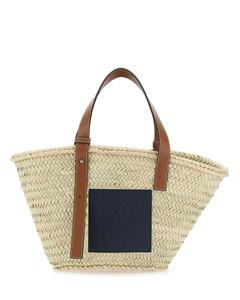 Palm leafs small Basket handbag