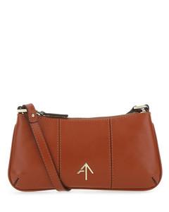 Brick leather mini Pita shoulder bag