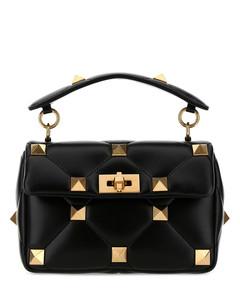 Black nappa leather medium Roman Stud handbag