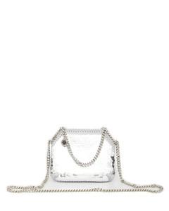 Diag-print shoulder bag