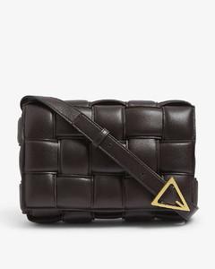 Padded Cassette intrecciato leather cross-body bag