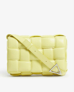 Padded Cassette intrecciato leather cross-body bag