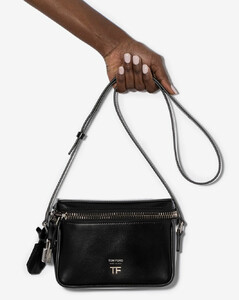 Black Day leather shoulder bag