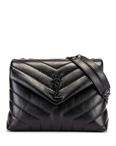 Small Supple Monogramme Loulou Chain Bag in Black