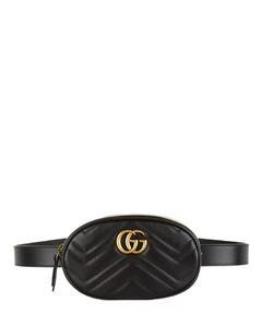 Leather Marmont MatelasséBelt Bag