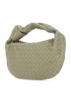 Women's Dinner Roll Leather Bag - Black
