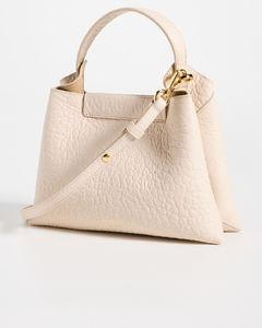 Black nappa leather clutch