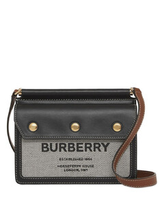 Baby Title Pocket Canvas & Leather Bag