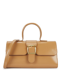 1.14 large camel leather top handle bag