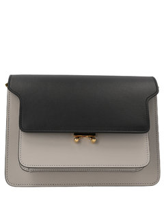 Fleming Small Convertible Shoulder Bag In Black Leather