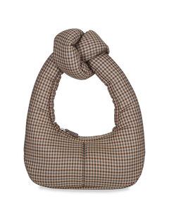 Mon Tresor Logo Crossbody Bag in Abstract,Black,Neutral,Brown