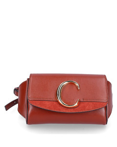 Belt Bag CHLOÉleather suede logo brown