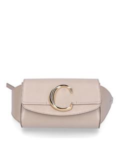 Belt Bag CHLOÉleather suede logo beige