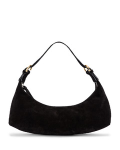Mara Suede Leather Bag in Black