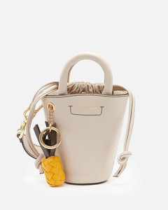 's Cecilya Mini Bucket Bag - Cement Beige
