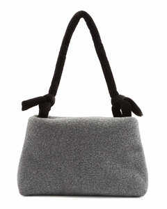Lady knotted-strap wool-blend felt shoulder bag