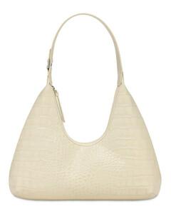 Amber Croc Embossed Leather Bag