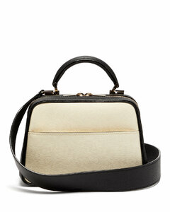 Serie S small grained-leather shoulder bag