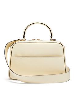 Serie S medium textured-leather shoulder bag