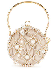 Ines crystal-embellished cross-body bag