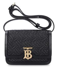 Shoulder bag TB BAG Lambskin logo metallic black