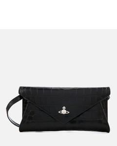 Women's Lisa Envelope Clutch Bag - Black