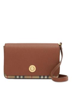 Hampshire Check & Leather Shoulder Bag