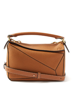 Puzzle small grained-leather cross-body bag