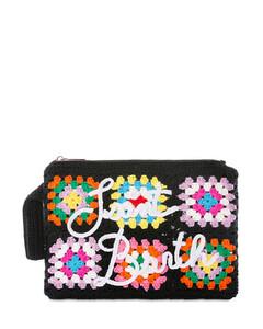 Matelasséleather shoulder bag.