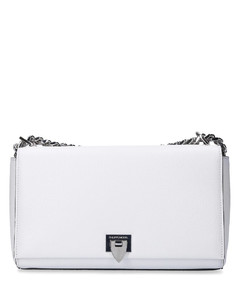 Handbag CHOLET BAG leather logo white