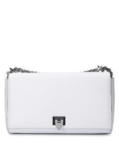 Handbag CHOLET BAG leather logo white