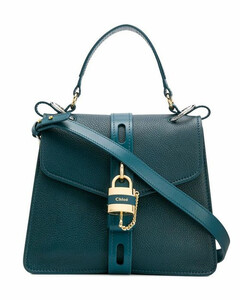CHLOÉWOMEN'S CHC19AS188B57GRN GREEN LEATHER HANDBAG