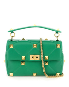 Rockstud Shopping Bag Red