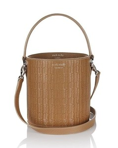 Santina Mini Bucket Bag Light Tan Woven