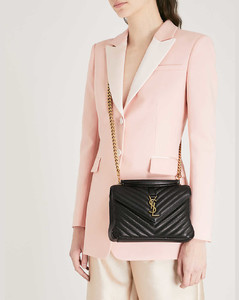 Collège small quilted leather satchel bag