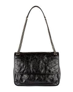 Medium Leather Niki Shoulder Bag