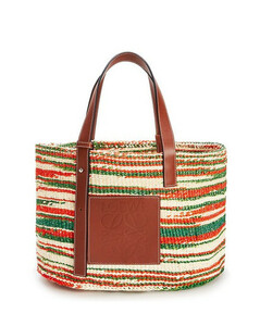 Paula's Ibiza striped raffia basket bag