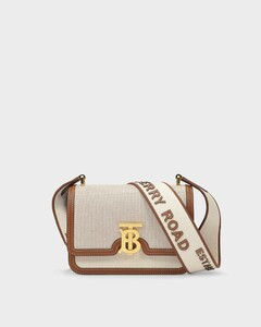 Tb Small Bag in Beige Coated Canvas