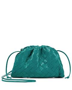Pouch S号编织皮革手拿包