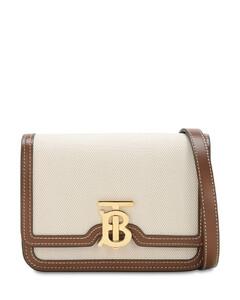 Mini Tb Canvas & Leather Shoulder Bag