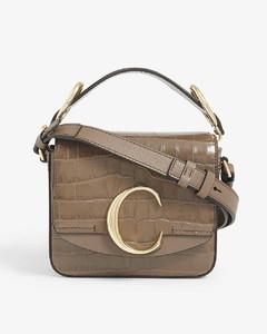 C Toaster croc-embossed mini leather shoulder bag