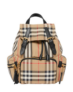 The small rucksack in vintage check and icon stripe
